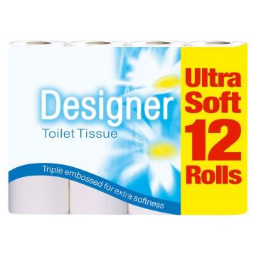 Designer Toilet Roll 12 Pack