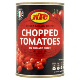 KTC Peeled Chopped Tomatoes 12x400g