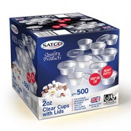 Satco Round Plastic Containers 2oz (1000)