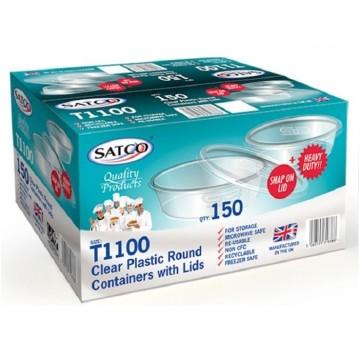 Satco Round Plastic Containers 1100ML (150)