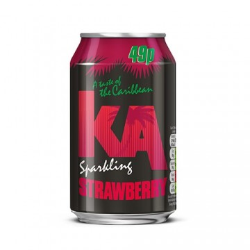 KA Fruit Black Strawberry 24x330ML Cans PM 49p