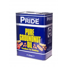 Pride Ground Nut Oil 4L Tin