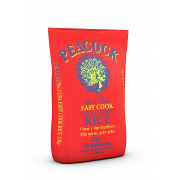 Peacock Easy Cook Rice 20kg